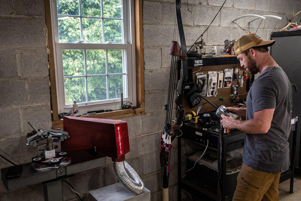 DIY Bow Shop, At Home Bow Shop, Garage Bow Shop